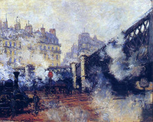 Claude Monet - o pont o l-Europe , Gare Saint-Lazare