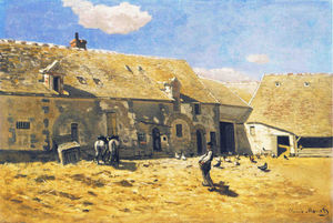 Claude Monet - Farmyard em Chailly