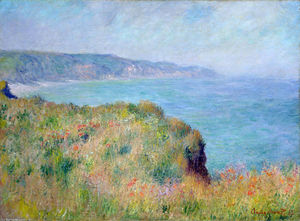 Claude Monet - Cliff perto de Pourville