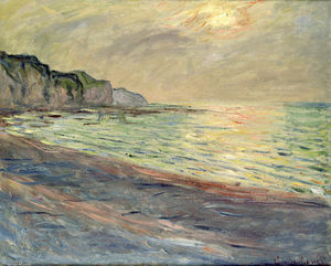 Claude Monet - Pourville, Sunset