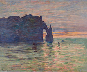 Claude Monet - Barcos Etretat Do-sol