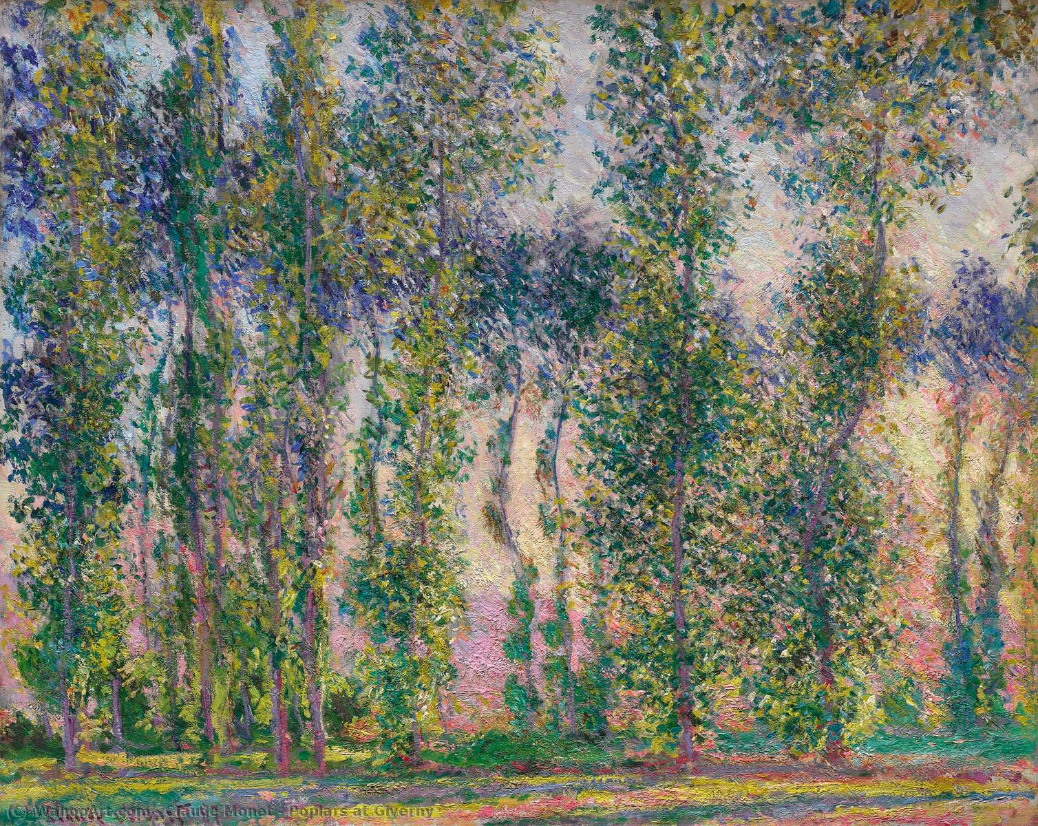 Álamos em Giverny, 1887 por Claude Monet (1840-1926, France)
