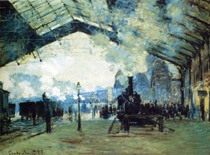 Claude Monet - Saint-Lazare Gare, Normandy Train