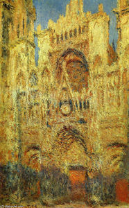 Claude Monet - catedral de rouen ao pôr do sol