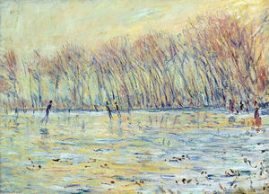 Claude Monet - Scaters em Giverny