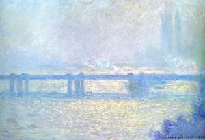 Claude Monet - Charing Cross Ponte escuro  clima