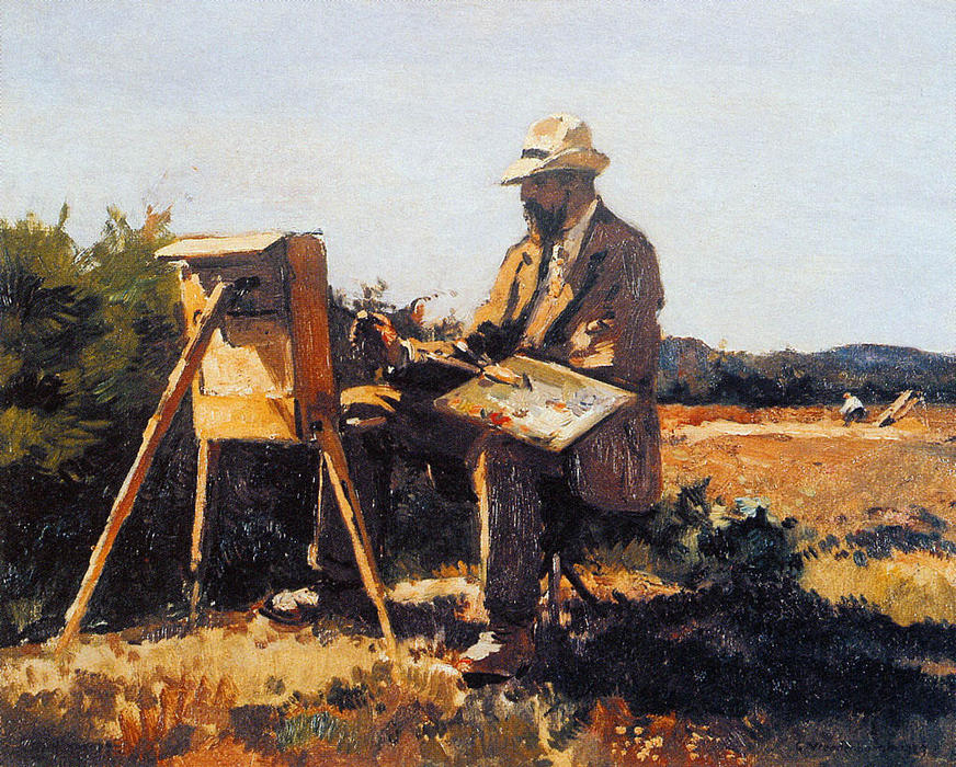 Pintor Jan Bakker At Work por Cornelis Vreedenburgh (1880-1946, Netherlands)