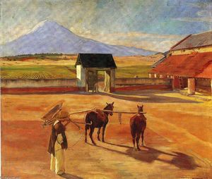 Diego Rivera - La Era (The Threshing Floor) 1904 (óleo sobre tela)