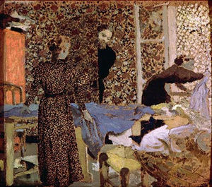 Jean Edouard Vuillard - Interior of the work-table