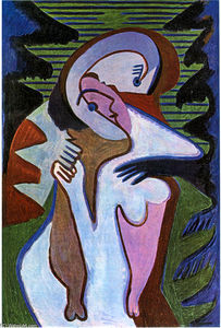 Ernst Ludwig Kirchner - amantes o  beijo