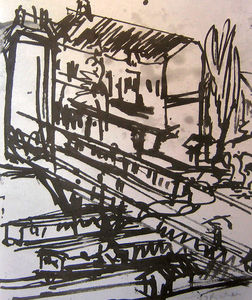 Ernst Ludwig Kirchner - The Railway Overpass