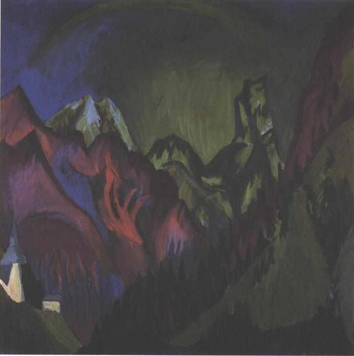 Trens Gorge perto Monstein, 1920 por Ernst Ludwig Kirchner (1880-1938, Germany) | WahooArt.com