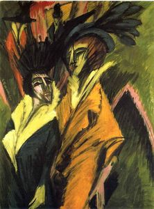 Ernst Ludwig Kirchner - dois mulheres no rua