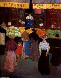 Felix Vallotton - no mercado