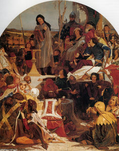 Ford Madox Brown - Chaucer no Tribunal de Edward III