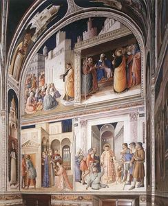 Fra Angelico - Cenas de Vidas of Santos Lawrence e Stephen