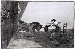 Francisco De Goya - the bravery de martincho no anel de saragassa