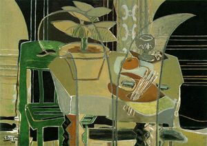 Georges Braque - Interior com paleta