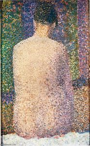 Georges Pierre Seurat - modelo do atrás