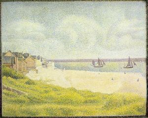 Georges Pierre Seurat - Vista do Crotoy o  Vale