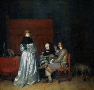 Gerard Ter Borch - Conversa Gallant (A Advertência paterno)
