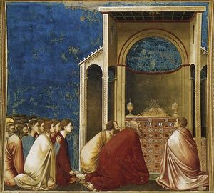 Giotto Di Bondone - Os pretendentes Praying