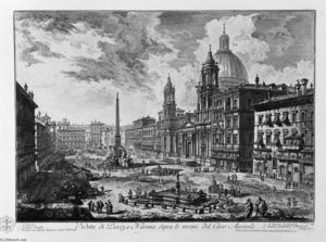 Giovanni Battista Piranesi - Visto do Praça della rotonda