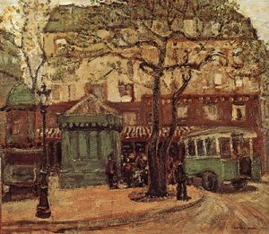 Grant Wood - Bus Greenish na Rua de Paris