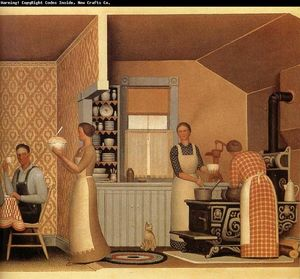 Grant Wood - Jantar para Threshers