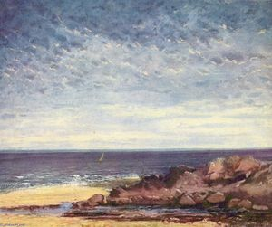 Gustave Courbet - Costa do Mar na Normandia