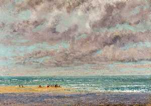 Gustave Courbet - Marinha Les Equilleurs