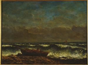 Gustave Courbet - Sea Stormy o  onda