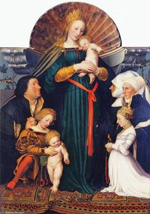 Hans Holbein The Younger - Madonna do Burgermeister Meyer