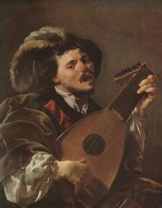 Hendrick Terbrugghen - The Singing jogador do alaúde