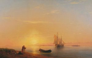 Ivan Aivazovsky - As costas da Dalmácia