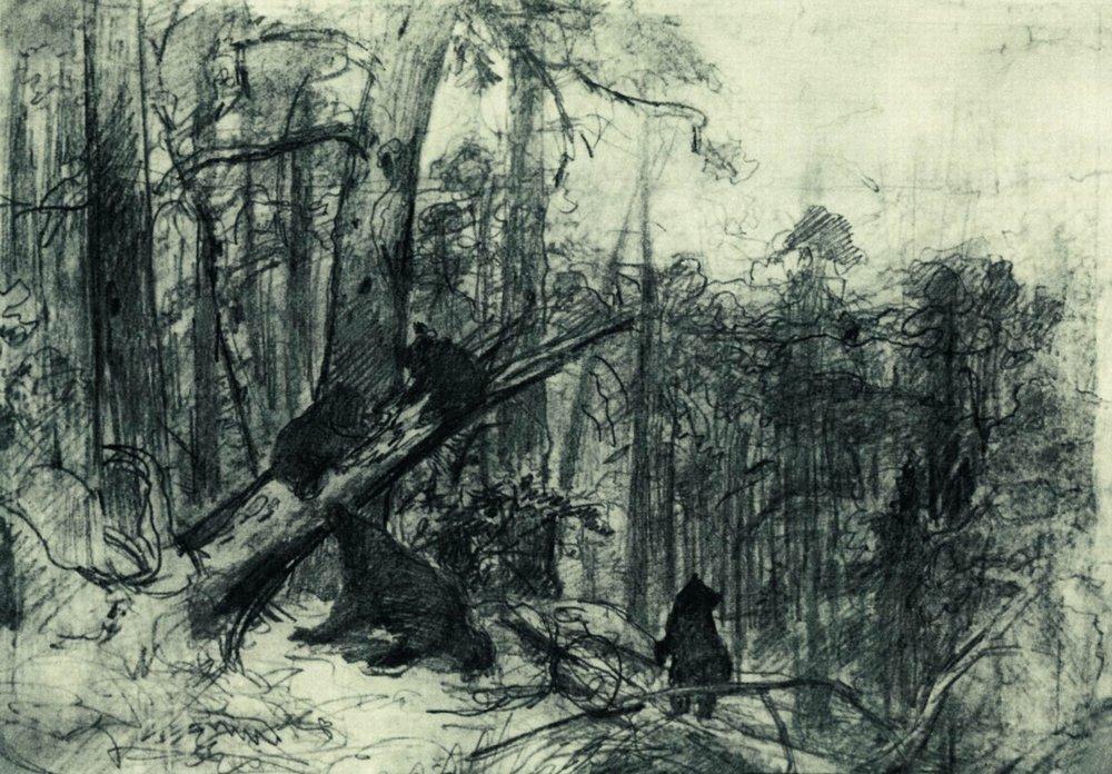 Resultado de imagem para obras de ivan ivanovich shishkin