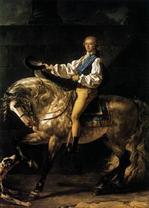 Jacques Louis David - Retrato equestre de Estanislau Kostka Potocki