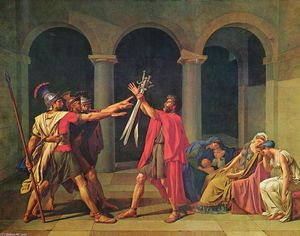 Jacques Louis David - O juramento de Horatii