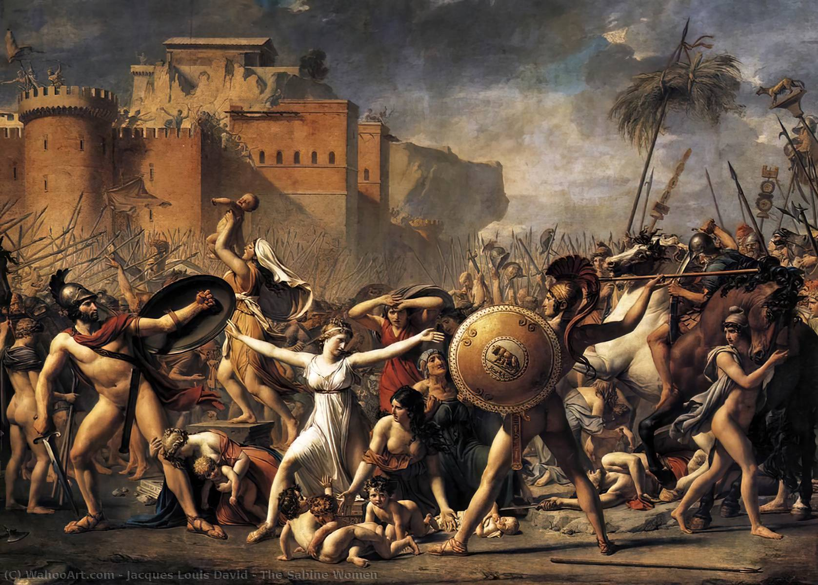 As mulheres de Sabine, 1799 por Jacques Louis David (1748-1800, France) | WahooArt.com
