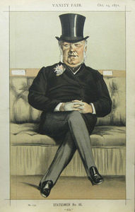 James Jacques Joseph Tissot - Caricatura de henry william eaton m . P .