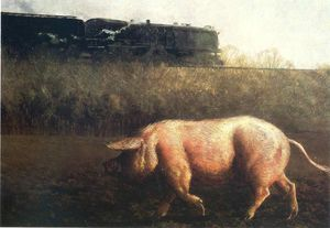 Jamie Wyeth - Porco e Train