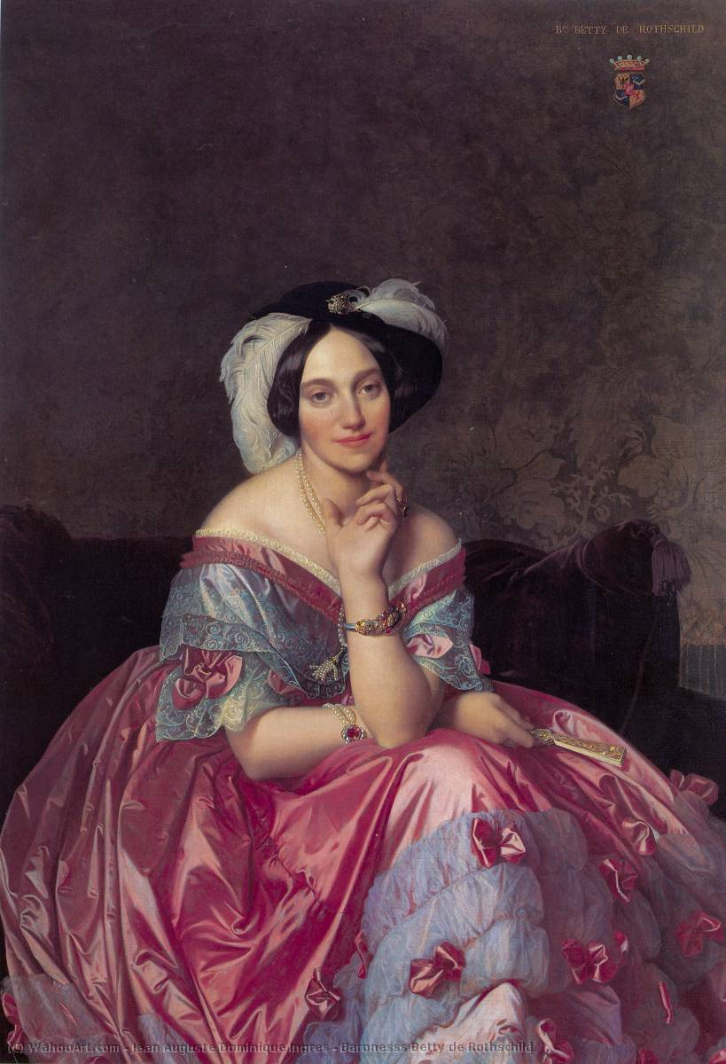 Baronesss Betty de Rothschild, óleo sobre tela por Jean Auguste Dominique Ingres (1780-1867, France)