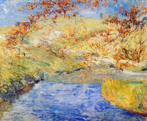 John Henry Twachtman - O Brook Winding