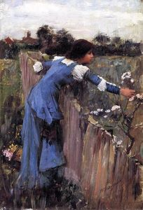 John William Waterhouse - A Flor Picker