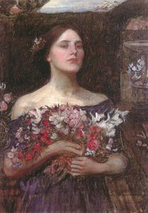 John William Waterhouse - Rosebuds do YE recolhimento ou Ophelia