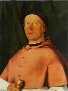 Lorenzo Lotto - Retrato do Bishop Bernardo De -Rossi