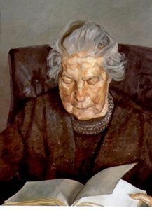 Lucian Freud - o `painter-s` mãe leitura
