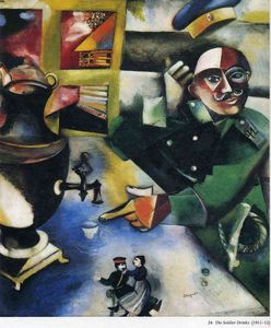 Marc Chagall - O soldado Drinks