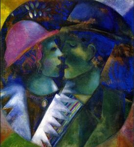 Marc Chagall - verde amantes