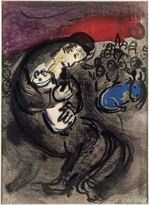 Marc Chagall - Weeping de Jeremias